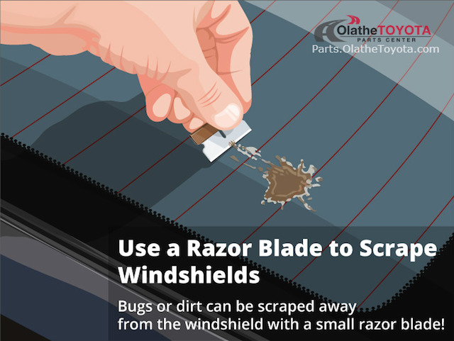 Razor blade windshield hack