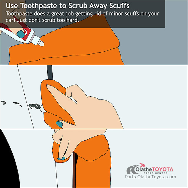 Toothpaste scuff hack