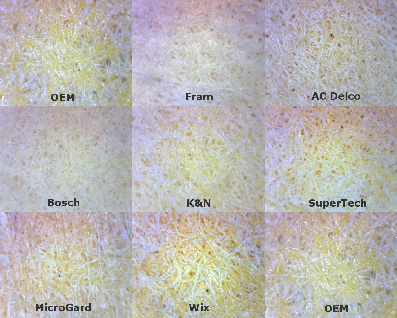 Olathe toyot tacoma oil filter comparison tacoma oem filter vs filter medium at 40x magnification filter medium at 150x magnification nvjuhfo Gallery