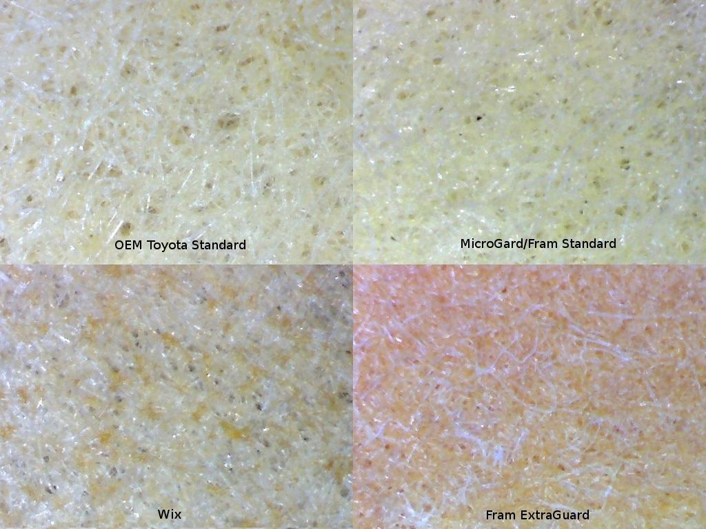 Olathe toyot oil filter comparison tundra oem filter vs fram filter medium at 40x magnification nvjuhfo Gallery