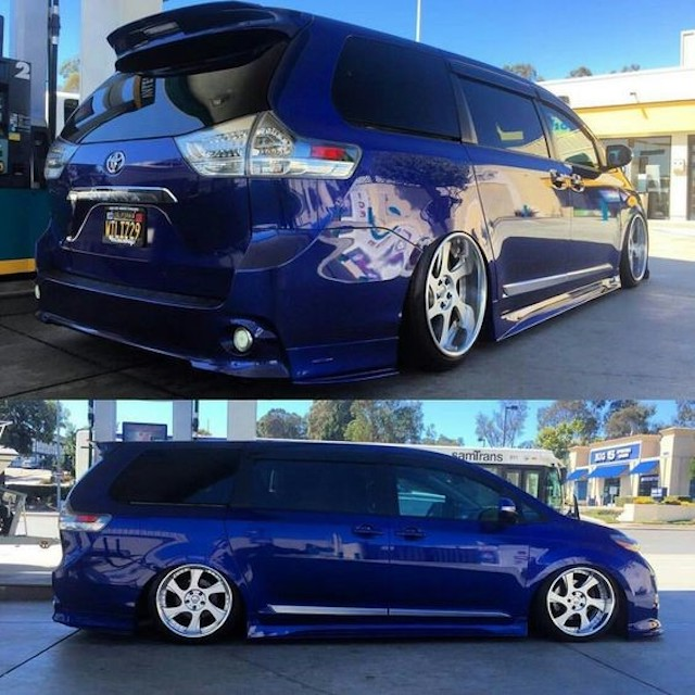 Stanced blue sienna