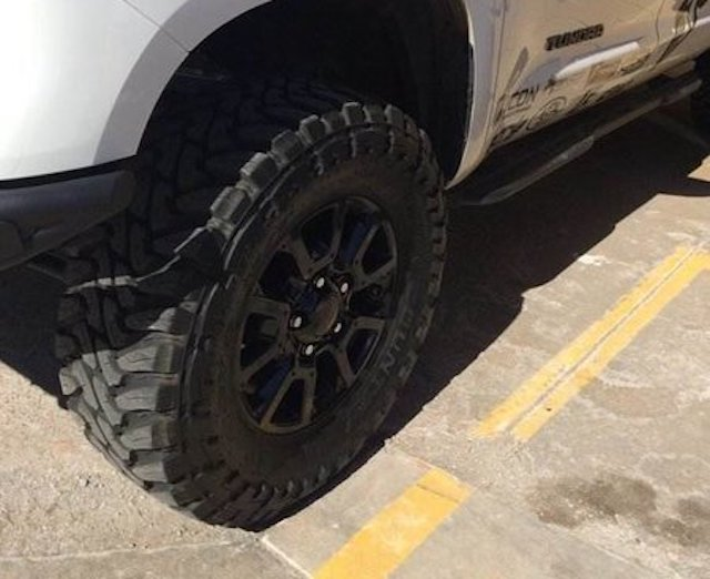 Tundra oversized tires