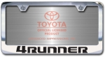 Chrome Engraved 4Runner License Plate Frame-Block Lettering