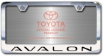 Chrome Engraved Avalon License Plate Frame-Block Lettering