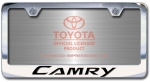 Chrome Engraved Camry License Plate Frame-Block Lettering