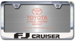 Chrome Engraved FJ Cruiser License Plate Frame-Block Lettering