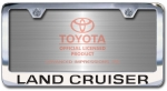 Chrome Engraved Land Cruiser License Plate Frame-Block Lettering