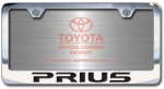 Chrome Engraved Prius License Plate Frame-Block Lettering