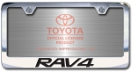 Chrome Engraved Rav4 License Plate Frame-Block Lettering