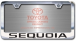 Chrome Engraved Sequoia License Plate Frame-Block Lettering