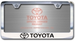 Chrome Engraved Toyota with Logo License Plate Frame-Block Lettering