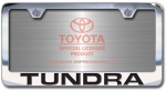 Chrome Engraved Tundra License Plate Frame-Block Lettering