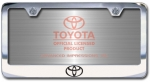 Chrome Engraved Toyota Logo License Plate Frame