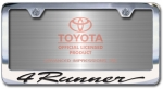 Chrome Engraved 4Runner License Plate Frame-Script Lettering