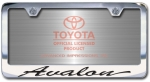 Chrome Engraved Avalon License Plate Frame-Script Lettering