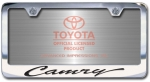 Chrome Engraved Camry License Plate Frame-Script Lettering