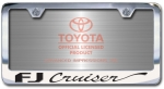 Chrome Engraved FJ Cruiser License Plate Frame-Script Lettering