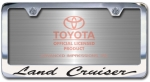 Chrome Engraved Land Cruiser License Plate Frame-Script Lettering