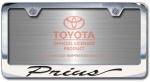 Chrome Engraved Prius License Plate Frame-Script Lettering