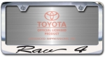Chrome Engraved Rav4 License Plate Frame-Script Lettering
