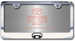 Chrome Engraved Toyota Trucks Logo License Plate Frame