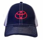 Two Tone Cap Grey/Black with Red Toyota Logo
