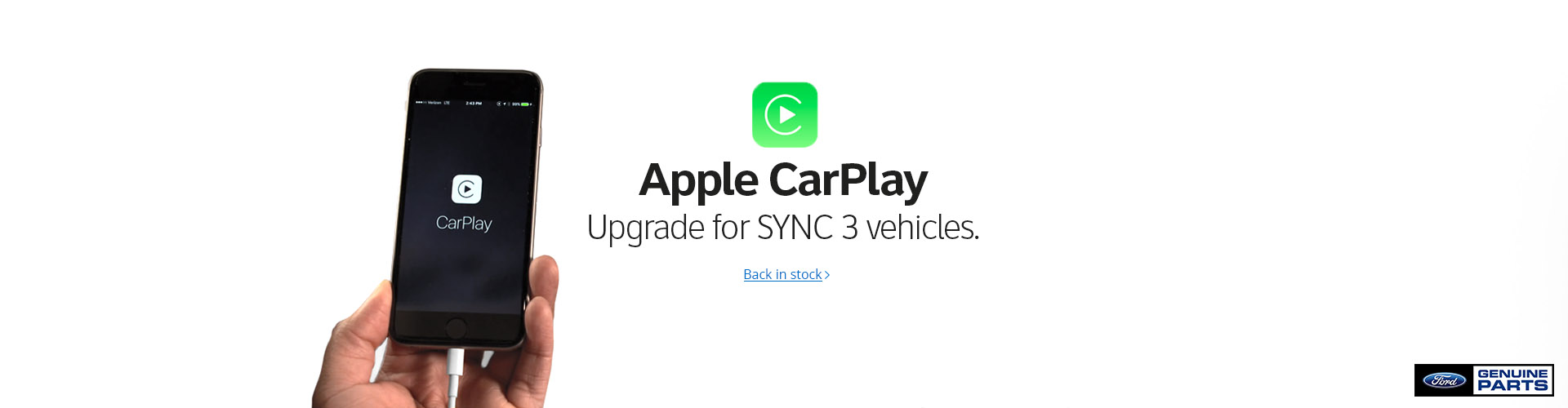APPLE CAR PLAY UPGRADE FOR SYNC III