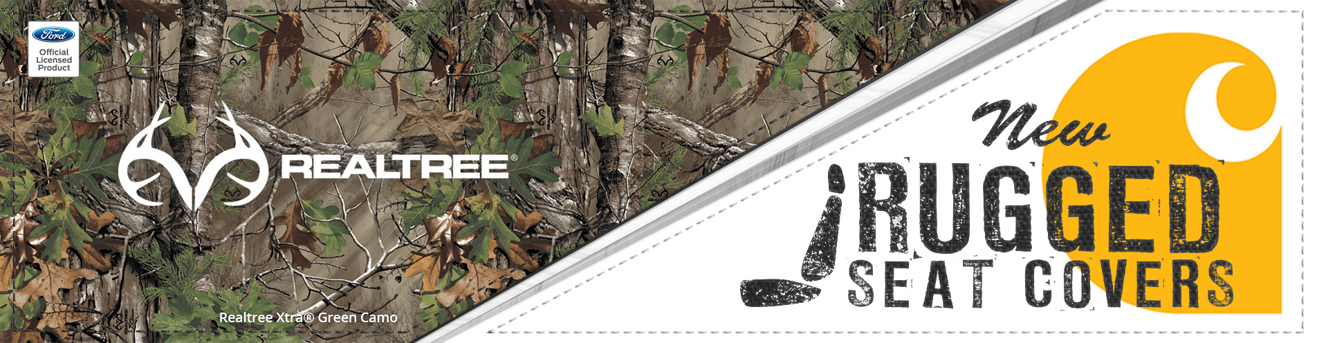 CARHARTT SEAT COVERS - REALTREE XTRA GREEN