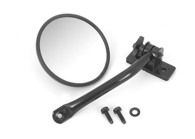 Quick Release Mirror Relocation Kit, Black; 97-16 Jeep Wrangler - Rugged Ridge