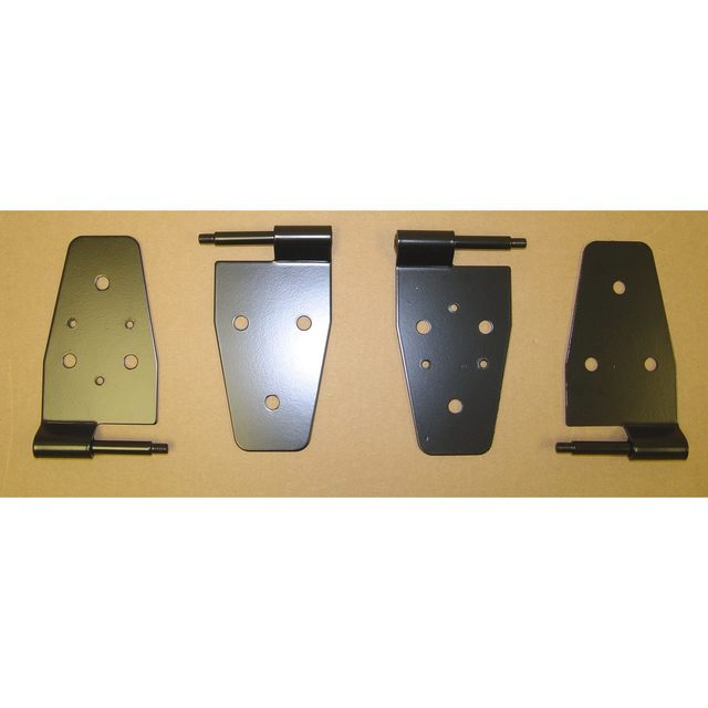 Door Hinge Kit, Black; 87-06 Jeep Wrangler TJ - Rugged Ridge