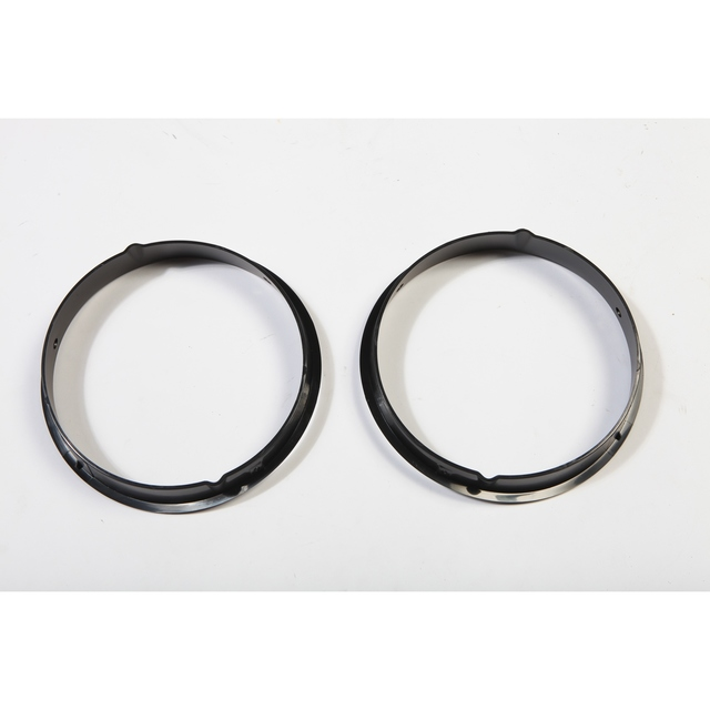Black Headlight Bezels; 97-06 Jeep Wrangler TJ - Rugged Ridge