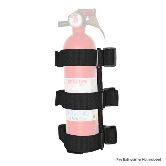 Sport Bar Fire Extinguisher Holder, Black; 55-16 CJ/Wrangler YJ/TJ/JK - Rugged Ridge