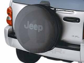 MOPAR 82206929AC JEEP SPARE TIRE COVER LIBERTY