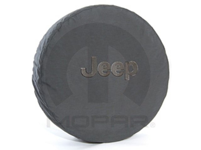 Mopar 82207955AC Spare Tire Cover Cloth Black Jeep Logo