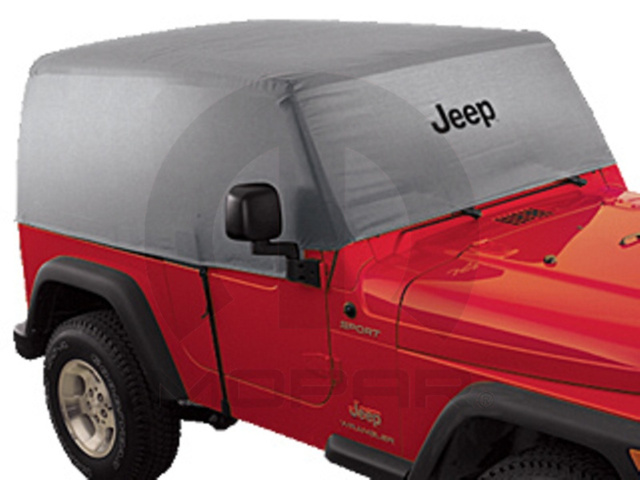 JEEP WRANGLER CAB COVER SILVER WITH JEEP LOGO 2007 AND NEWER - MOPAR (82210322AB)