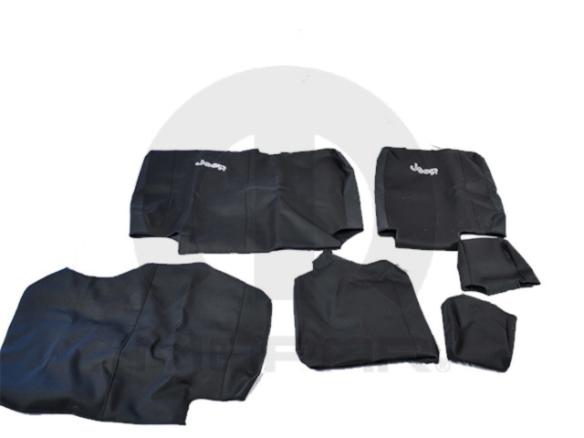JEEP REAR SEAT COVERS 4 DOOR BLACK WET SUIT - MOPAR (82211631)