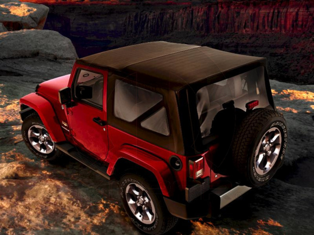 WRANGLER JK 3 WINDOW KIT 11-18, 2 DR BLACK STANDARD