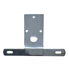License Plate Bracket, Stainless Steel; 76-86 Jeep CJ Models - Rugged Ridge
