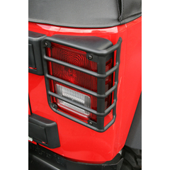 Tail Light Euro Guards, Black; 07-16 Jeep Wrangler JK - Rugged Ridge