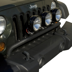 Bumper Mounted Light Bar, Textured Black; 07-16 Jeep Wrangler JK - Rugged Ridge