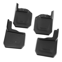 Splash Guard Kit, 4 Piece, Black; 07-16 Jeep Wrangler JK - Rugged Ridge