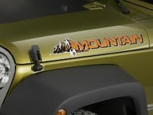 Wrangler Mountain Hood Decal Badge 68170759AA