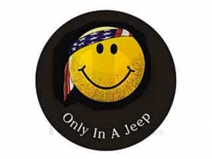 Mopar 82208684ad Jeep Smiley Face Spare Tire Cover