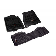 Floor Liners, Kit, Black; 07-14 Chevrolet/GMC Fullsize Pickup/SUV - Rugged Ridge