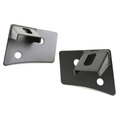 Windshield Auxiliary Light Brackets, Textured Black; 07-16 Wrangler JK - Rugged Ridge