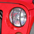 Headlight Euro Guards, Black; 07-16 Jeep Wrangler JK - Rugged Ridge