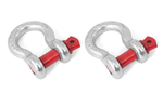5/8 Inch D-Shackle Set; ATVs/UTVs - Rugged Ridge