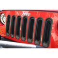 Grille Inserts, Black; 07-16 Jeep Wrangler JK - Rugged Ridge