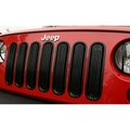 Billet Grille Insert, Black; 07-16 Jeep Wrangler JK - Rugged Ridge