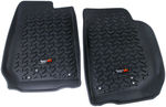 Floor Liners, Front, Black; 07-16 Jeep Wrangler JK - Rugged Ridge